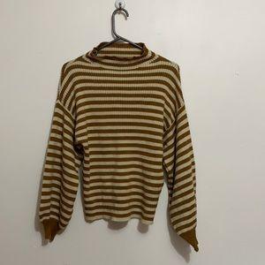Striped brown sweater